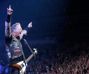 Metallica lors du premier spectacle de l'histoire du Centre Vidéotron