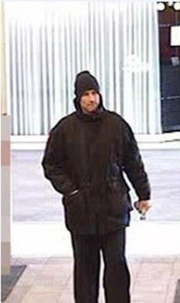 Une image captée par les caméras de surveillance de la banque volée le 12 février.