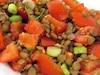 Salade tiède de lentilles et tomates