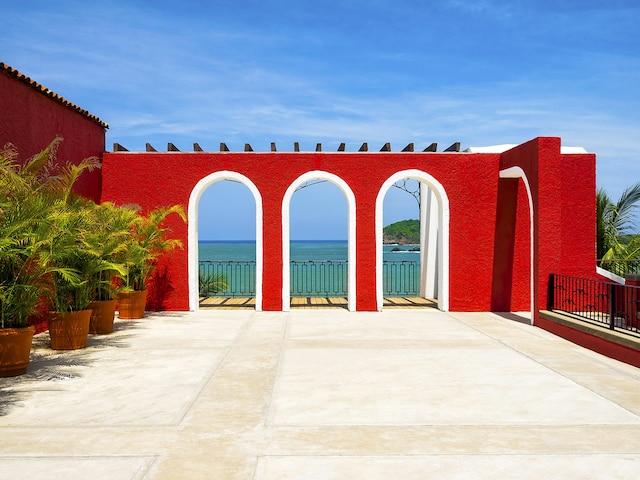 La mer vue du Club Med Ixtapa au Mexique.