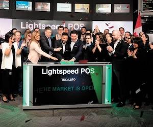 La société québécoise Lightspeed a marqué l'histoire hier en effectuant l'un des plus importants appels publics à l'épargne en techno en près de dix ans au Canada.