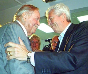 Jacques Parizeau et Gilles Duceppe, en avril 2011.