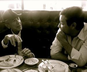 Leonard Cohen avec son fils Adam...