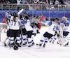 Les Finlandaises ont remporté la médaille de bronze grâce à une victoire de 3 à 2 contre les athlètes olympiques de Russie.