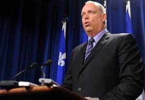 Le ministre de la Sécurité publique du Québec, Stéphane Bergeron.