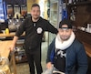 Dans le Vito Café de la rue Villeray, non loin du bureau de comté de Gerry Sklavounos, le propriétaire Vito Azzue (à gauche) et un client, Greg Nobrega.