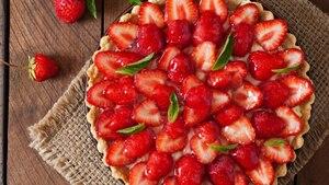 Tarte mascarpone aux fraises