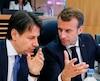 Giuseppe Conte et Emmanuel Macron.
