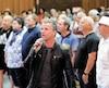 Bruno Pelletier répétait hier avec le Grand choeur Jukebox, une chorale de 200 personnes avec qui il revisitera son répertoire samedi soir au Palais Montcalm.