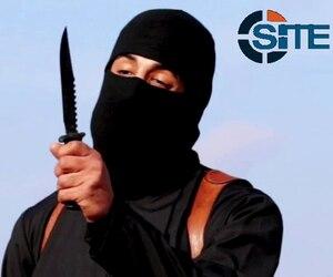 Une capture d'écran d'un vidéo dans lequel apparaît «Jihadi John».