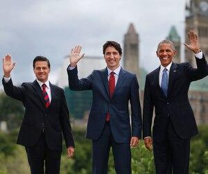 Enrique Peña Nieto, Justin Trudeau et Barack Obama