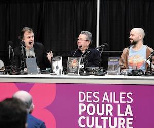Les auteurs de polars Denis Thériault, Patrick Senécal, André Jacques et François Lévesque ont alimenté une discussion autour de la peur.