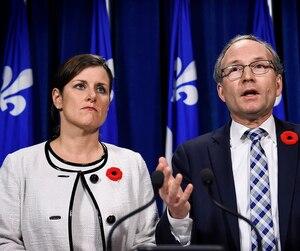 Les ministres Stéphanie Vallée et Martin Coiteux