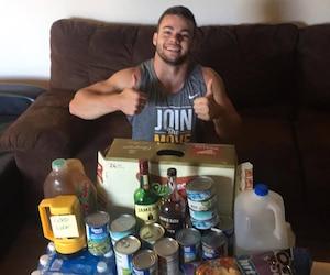 Shayne Furman, un jeune Québécois exilé à Orlando, est prêt à affronter l'ouragan Irma.