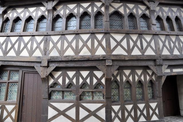 Maison du Moyen Âge dans le village de Rue, près de la baie de Somme.