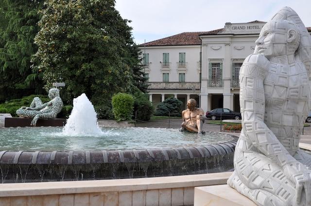 Le centre-ville touristique de Abano Terme.