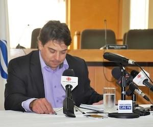 L'ex-maire de Gaspé, François Roussy, en août 2013.