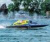 Donny Allen filait à vive allure, dimanche, en finale de la catégorie Hydro 350 lors de la finale des Régates internationale de Valleyfield.