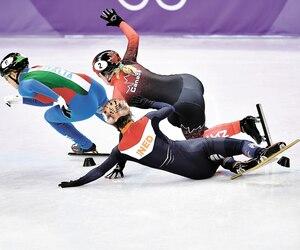 Marianne St-Gelais a vu sa participation au concours du 500 mètres prendre fin prématurément.