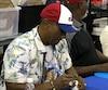 D'anciens joueurs des Expos de Montréal ont fait le bonheur des collectioneurs en participant à la 10e édition de l'Anti-Expo, au stade IGA, le dimanche 14 octobre 2018. Sur la photo: l'ancien voltigeur Bombo Rivera