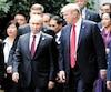 Le président russe Vladimir Poutine et son homologue américain Donald Trump lors du Forum de coopération Asie-Pacifique, à Danang, au Vietnam le 11 novembre dernier.