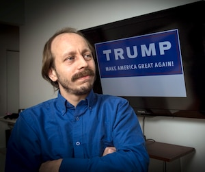 Evann Tremblay aimerait que le phénomène Trump se transporte au Québec afin de relancer l'économie et l'entrepreneuriat.