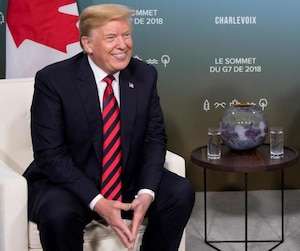 First day of G7 summit, with bilateral meetings in the morning before a group lunch, followed by roundtable talks and dinner
