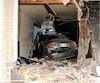 La voiture que conduisait Anthony Bélanger s'est encastrée dans lachambre de Rachel Middleton et de son conjoint Joël Ricard en octobre 2014.