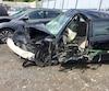 La voiture de Justine Nesterenko a complètement été détruite après un face-à-face, causé par l'alcool et la drogue, la semaine dernière, sur le pont Jacques-Cartier.