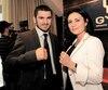 La femme d'affaires Anna Reva était la gérante du champion du monde Artur Beterbiev (à gauche).