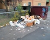 Centre Cartierville malpropre poubelle
