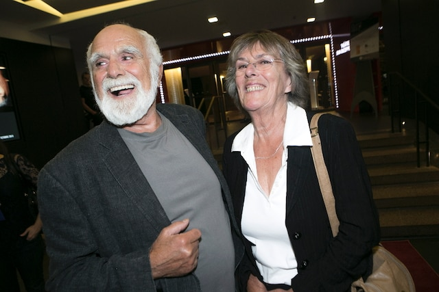 L'animateur de radio Claude Jasmin et la réalisatrice Raymonde Boucher.