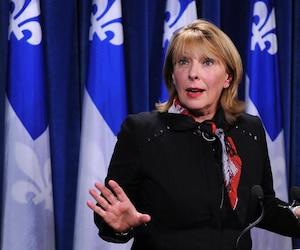 La ministre des Relations internationales du Québec, Christine St-Pierre