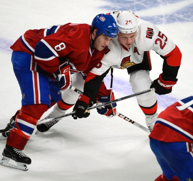 (8) Brandon Prust et (25) Chris Neil.