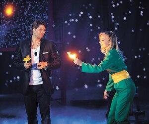 La deuxième saison de <i>La magie des stars</i> s'est terminée le 3 février dernier, sur les ondes de TVA. La comédienne Ludivine Reding (à droite) était l'une des participantes.