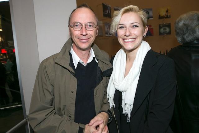 Gilles Payer et sa fille Alice ont assisté à la soirée de première du spectacle Réellement sur scène de l'illusionniste Luc Langevin  hier soir au Théatre St-Denis.