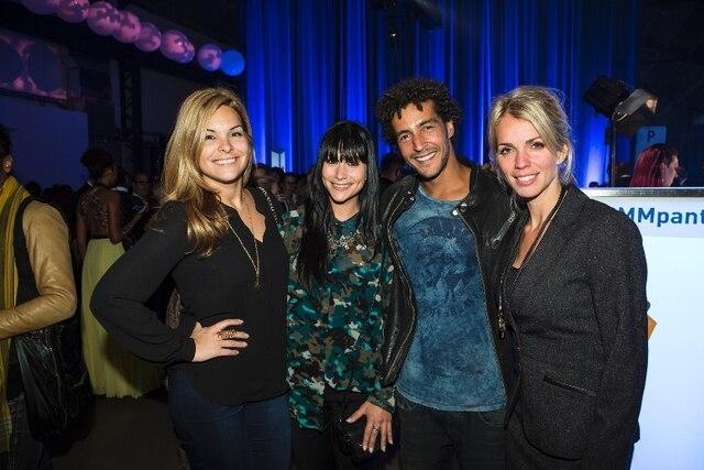 Richard Stoica était entouré de fashionistas aguerries venues assister aux derniers défilés: Kim Rusk, Amélie B. Simard et Jacynthe René.