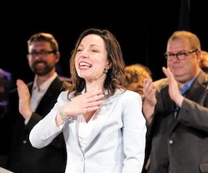 Martine Ouellet et Mario Beaulieu (à droite) en mai 2016.