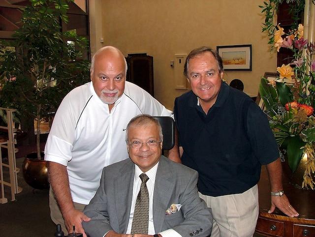 Tournoi de golf des célébrités avec René Angélil, André Delambre et Marc Verreault. PHOTO D'ARCHIVES/LE JOURNAL DE MONTRÉAL/AGENCE QMI