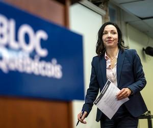 La chef du Bloc québécois, Martine Ouellet
