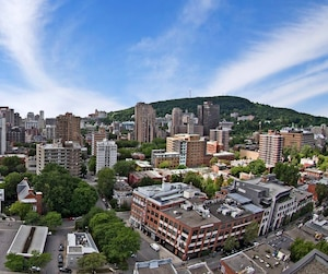 Montreal colourful wide angle cityscape