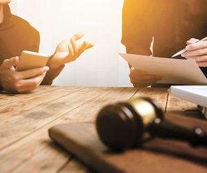 A team of lawyers and legal advisors working together
