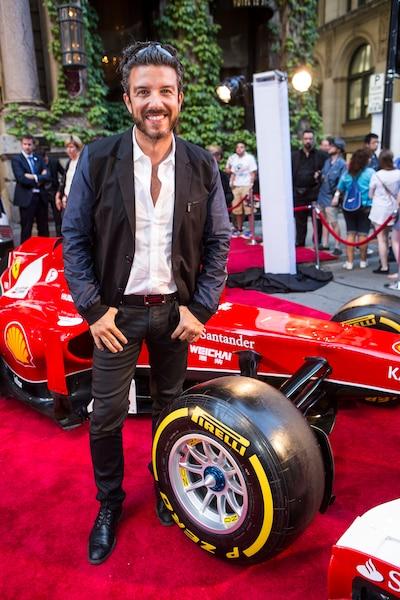 Jean Aroldi lors de la soirée Ferrari à l'Hôtel St-James.