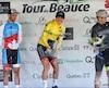 Vainqueur de la 31e édition du Tour de Beauce, Gregory Daniel a fait sauter le champagne au terme de sa victoire, dimanche.