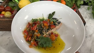 Saumon en croûte de sésame