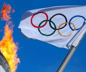 Drapeau jeux olympique logo