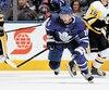Tomas Plekanec dit se préparer pour les séries dans son nouvel uniforme des Maple Leafs de Toronto.