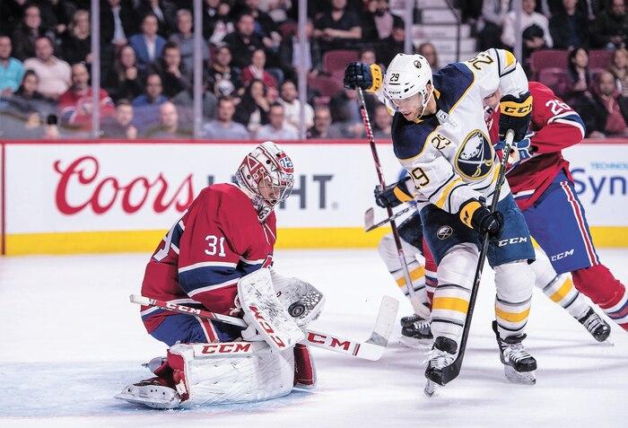 Carey Price a connu un match difficile face à Jason Pominville et aux Sabres, jeudi dernier.
