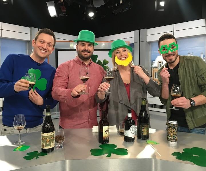 3 bonnes bières brassées ici au style irlandais!