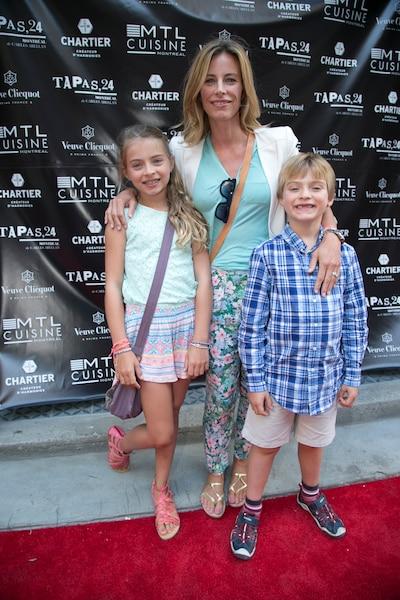 Julie DuPage et ses enfants Augustin et Billie